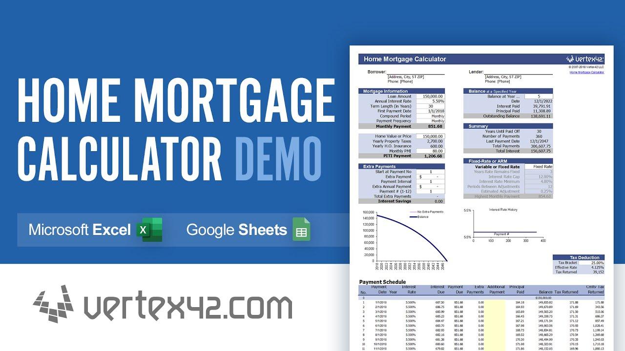 home mortgage calculator demo