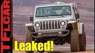 Leaked! New 2018 Jeep Wrangler Surprising Engines and Details thumbnail