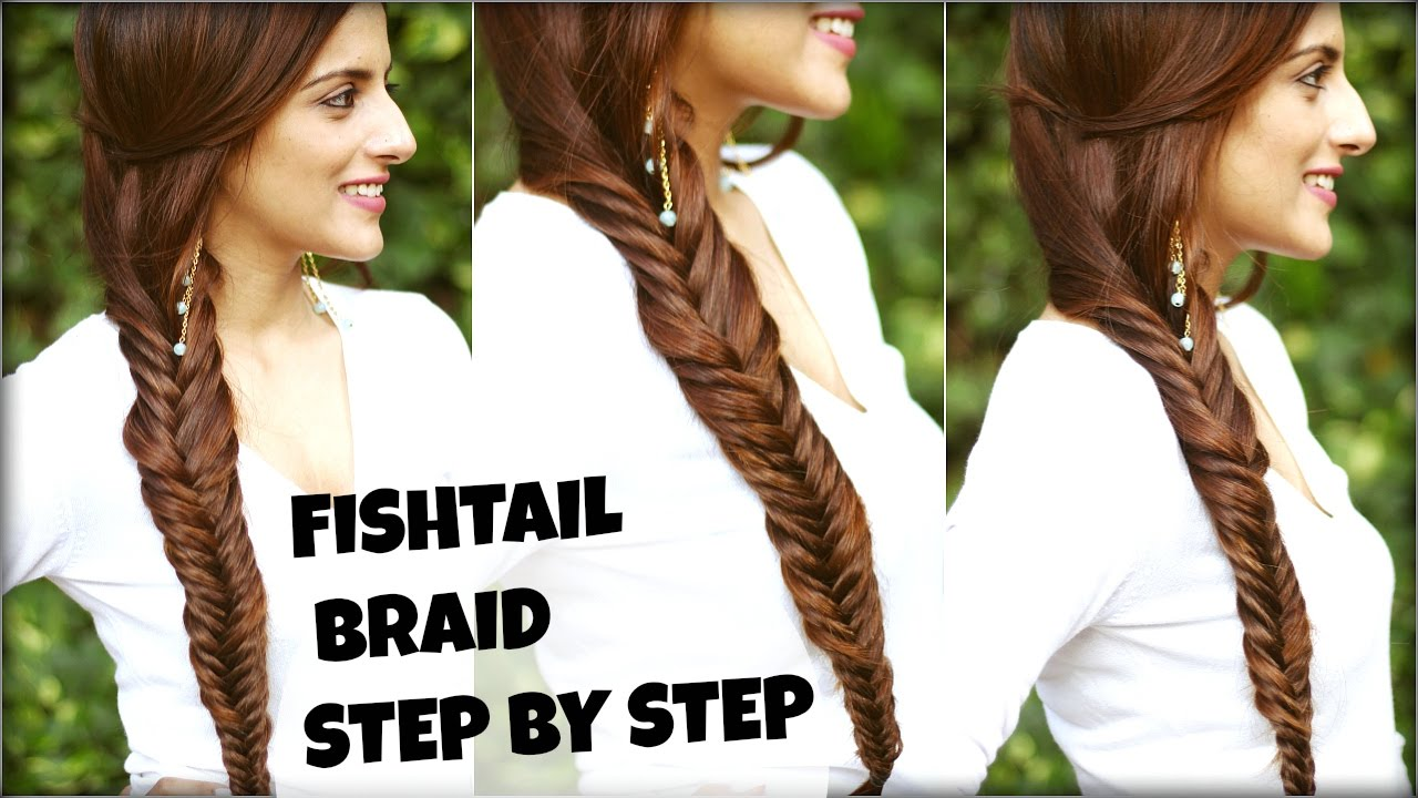 How To: EASY Fishtail Braid Tutorial For Beginners For College, Work ...