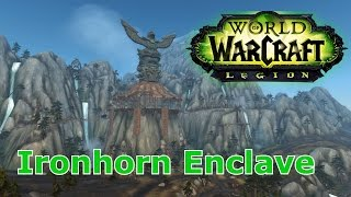 WoW Legion - How to get to Ironhorn Enclave (Highmountain)