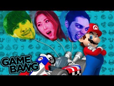 SUCKING HELIUM IN MARIO KART (Game Bang) |