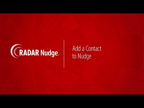 RADAR Nudge: Add Contact