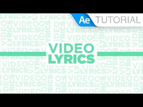 Video Lyrics - Tutorial After Effects