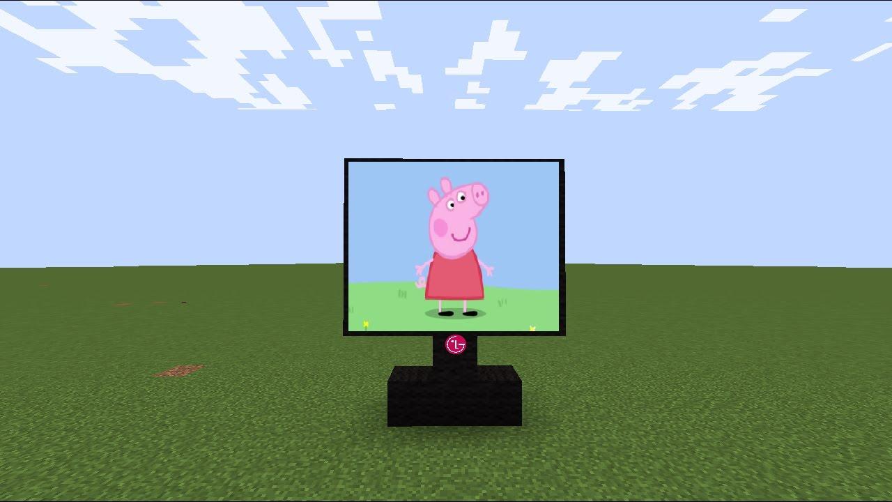в майнкрафте телевизор картинки для