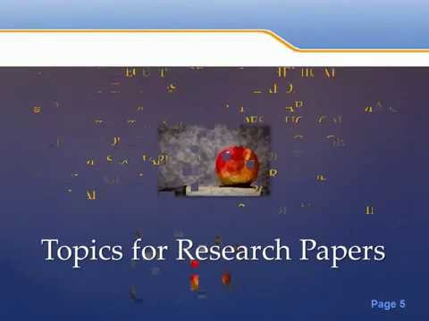 50 Research Paper Topics