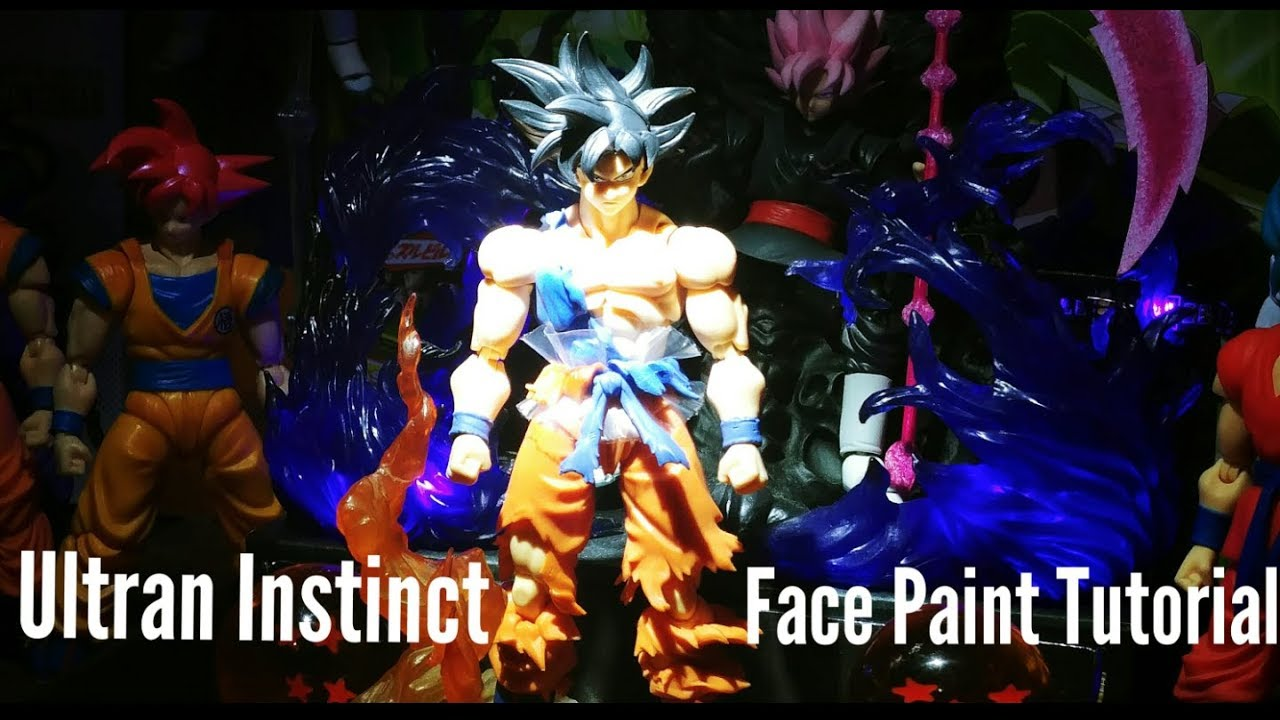 Dragonball SHF Ultra Instinct Son Goku Black 2 Hair /& 3 Face Upgrade Set