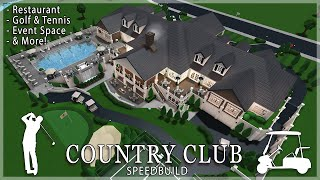 Roblox Bloxburg | Country Club Speedbuild