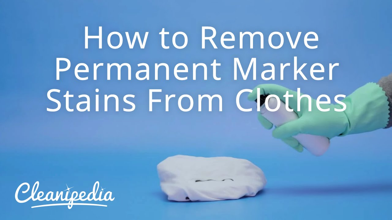 How to remove permanent marker stains from clothes youtube for How to remove ink stain from cotton shirt