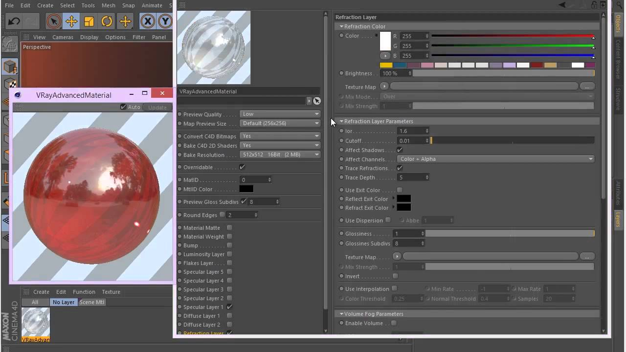 Tutorial No 11 : Introduction to Vray advanced material in Cinema 4d
