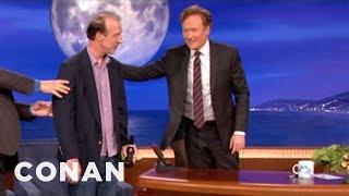 Conan Thanks Writer Brian McCann On His Last Day - CONAN on TBS