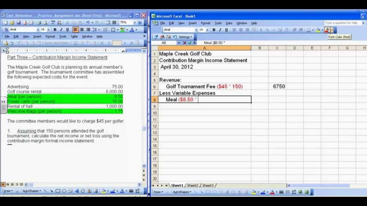 Contribution Margin Income Statementsmp4 YouTube – Contribution Income Statement