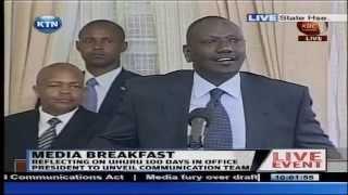 Ruto's light moments at the Media Breakfast