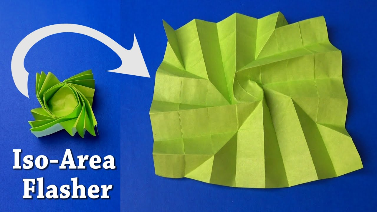 fold an origami flasher by jeremy shafer youtube
