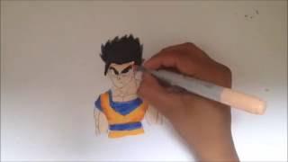 Drawing Mystic Gohan - Dragon Ball Z