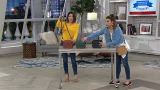 Vince Camuto Leather Crossbody Bag - Tal on QVC
