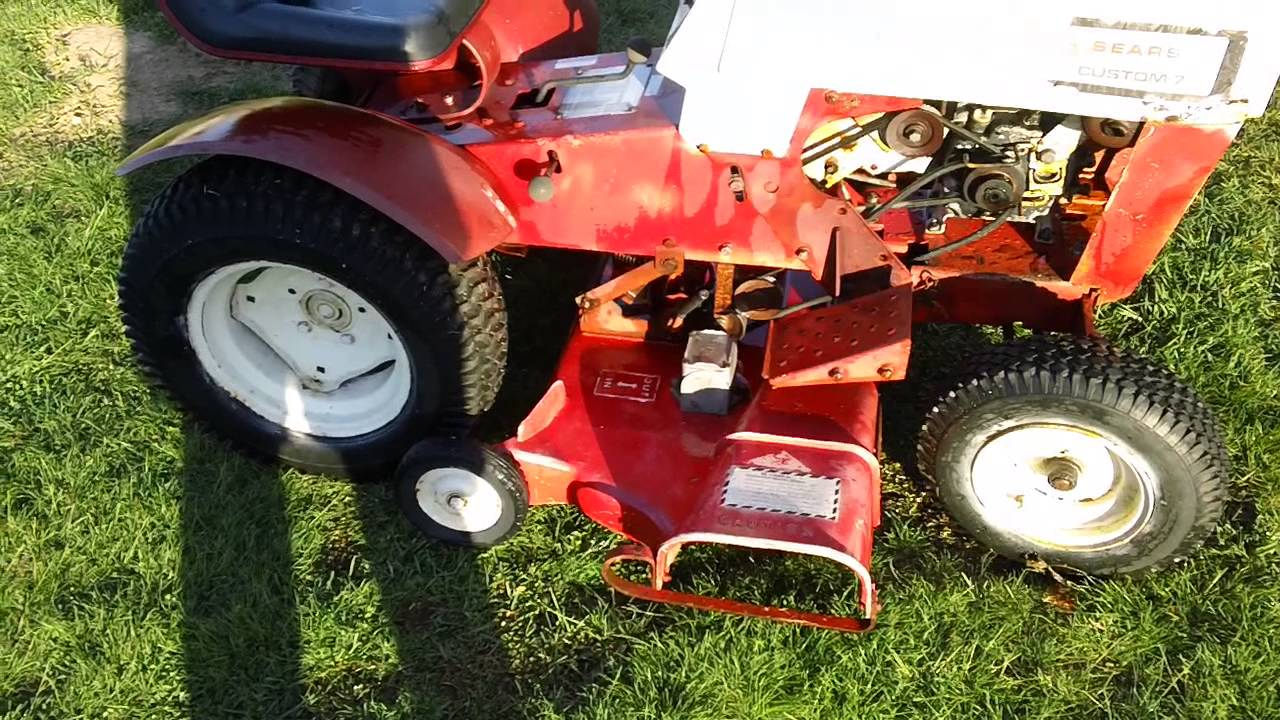 Final Look At The Sears Custom 7 Lawn Tractor Going To Be