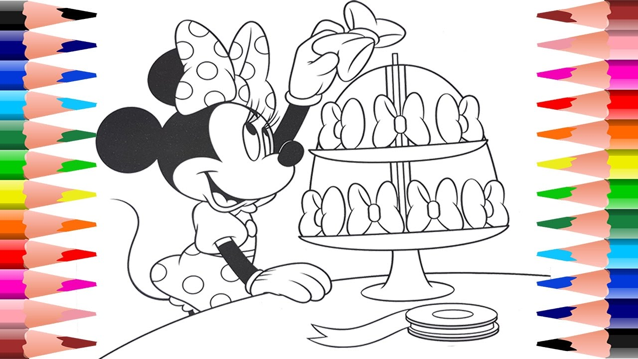 Painting Minnie Mouse Coloring Pages