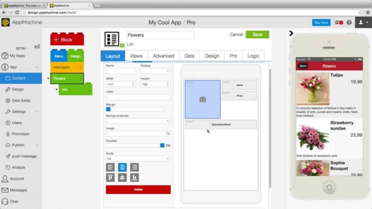 Design your screen with the Layout editor - YouTube