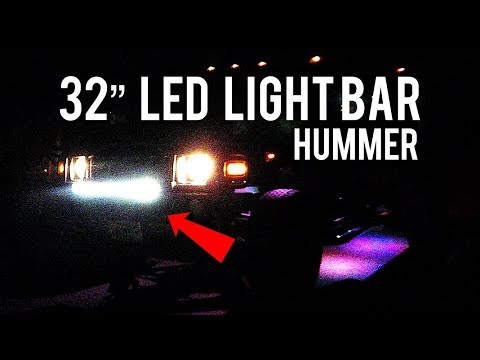 "How To Install An LED Light Bar 32"" Nilight 