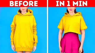 Making New Outfits With Old Clothes || Easy Ways To Upgrade Your Look