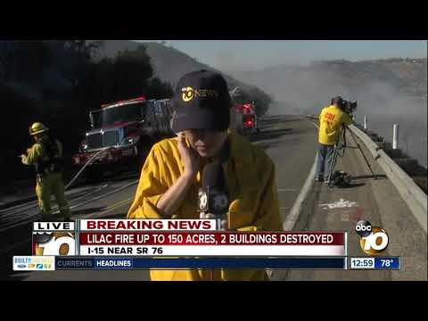 Lilac Fire in San Diego County continues to grow