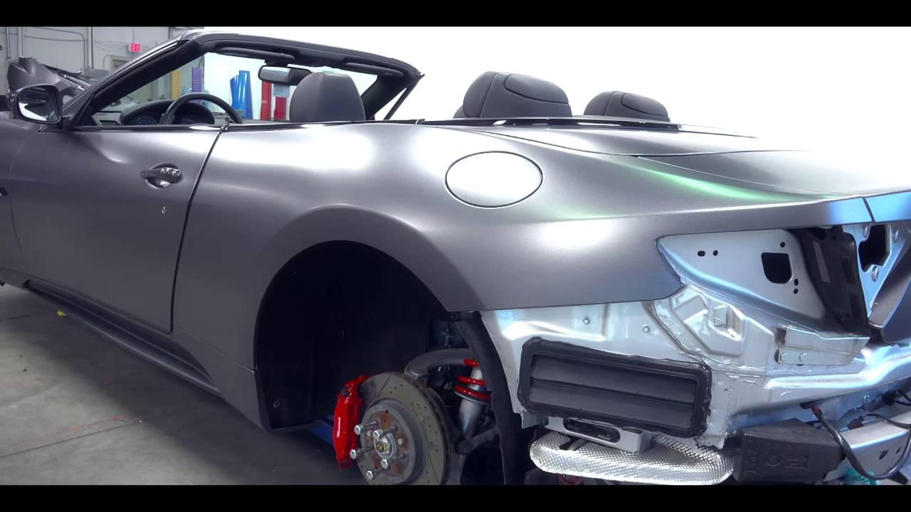 3m Satin Dark Gray Maserati Gt Wrap Exotic Vehicle Wraps Youtube