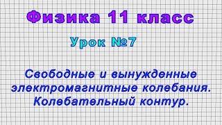 Физика 11 класс (Урок№7 - Свободные и вынужденные электромагнитные колебания. Колебательный контур.)