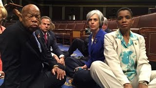 Let Us Vot.: Rep. John Lewis Leads Historic Democratic Sit-in for Gun Control Legi