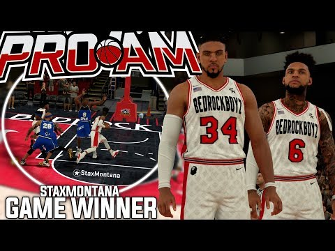 NBA 2K18 PRO-AM - CRAZY GAME WINNER! Stax & Shawn Combined For 100+ Points!