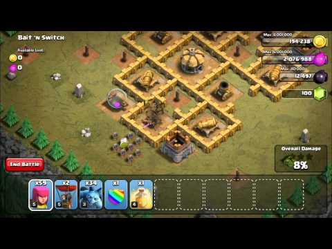 Clash Of Clans Level 39: Bait 'N Switch (walkthrough)