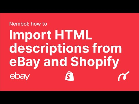 Import Html Descriptions From EBay And Shopify