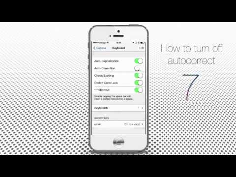 How to disable autocorrect on iphone 5s