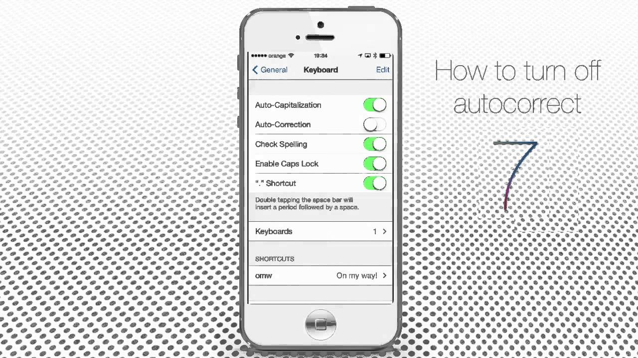 how to turn off autocorrect on iphone how to turn autocorrect on iphone and 20385