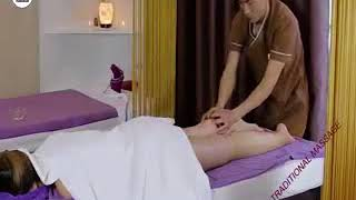 HOT Stone Massage Technique in Japan - Therapy relaxing low back pain relief.mp4
