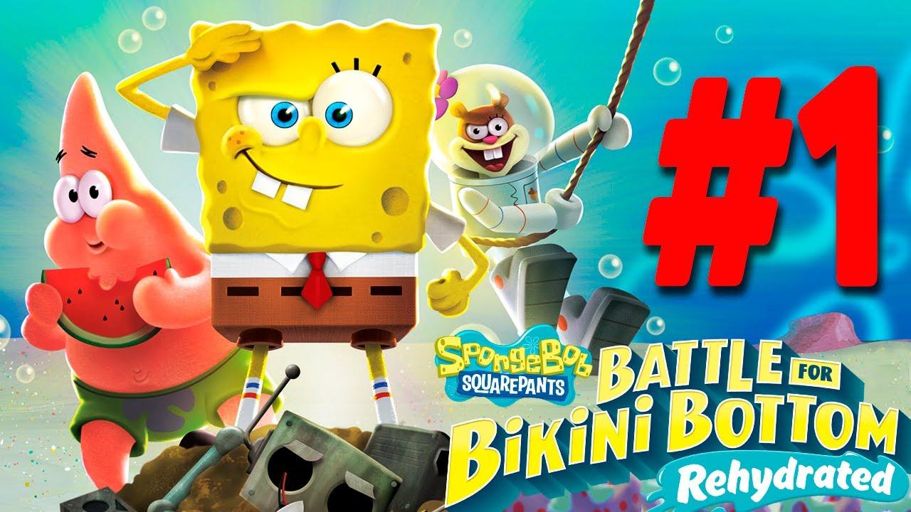 ГУБКА БОБ СПАСАЕТ МИР! Игра SpongeBob SquarePants: Battle for Bikini Bottom - Rehydrated #1