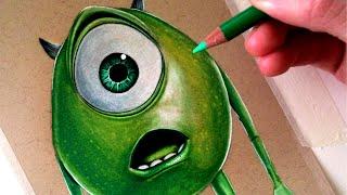 Drawing Mike Wazowski from Monsters, Inc. - FAN ART FRIDAY