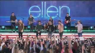 One Direction - entire interview 2015 (part # 1) /outdoor   - Ellen TV show