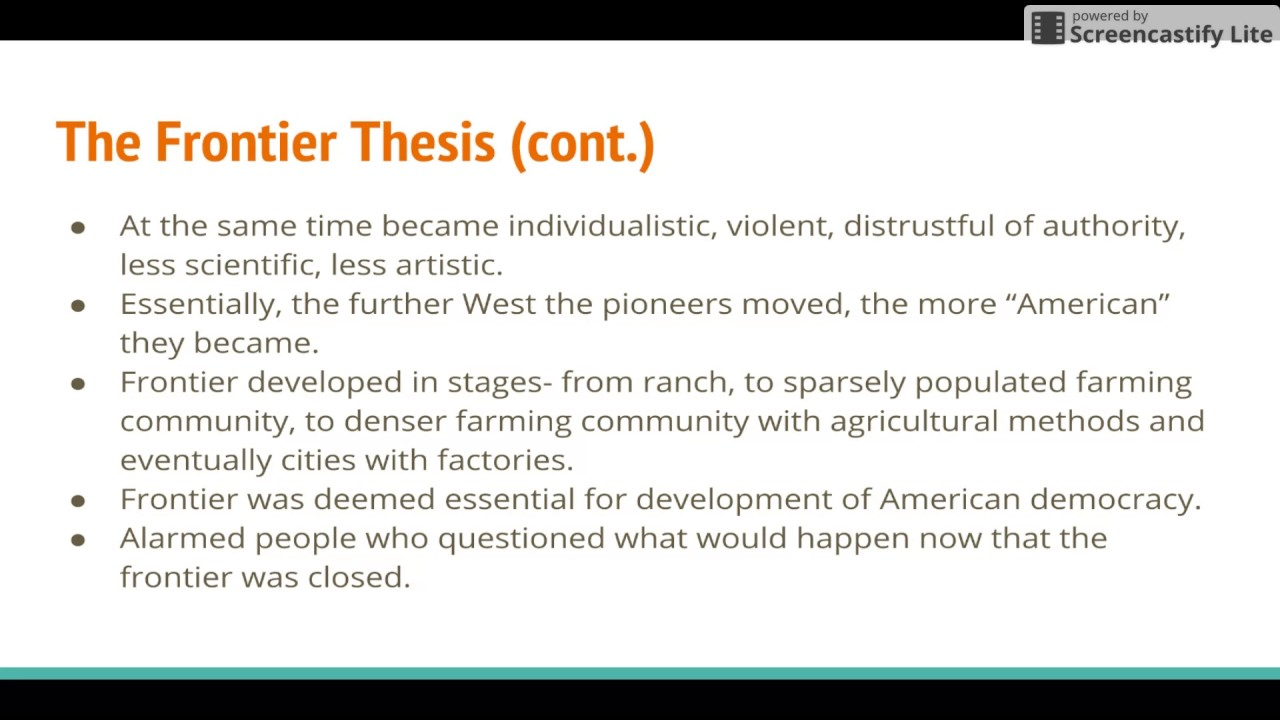 turners frontier thesis quizlet