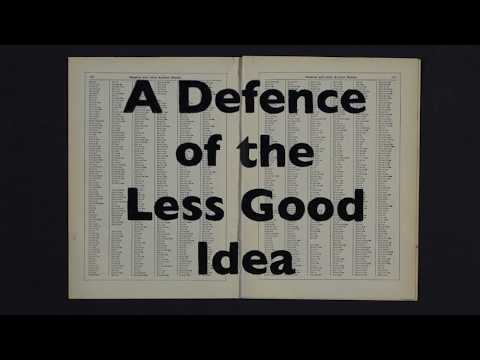 XLIV. Sigmund Freud Lecture - William Kentridge: A Defence of the Less Good Idea