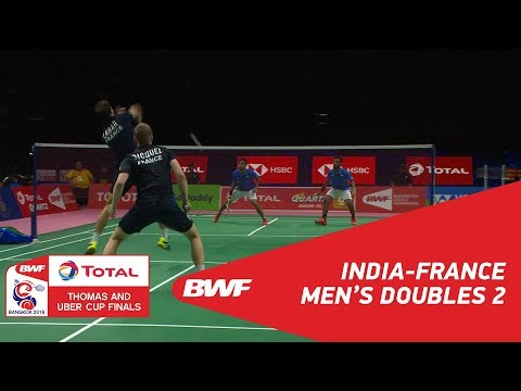 Thomas Cup | MD2 | GEORGE/SHUKLA (IND) vs GICQUEL/LABAR (FRA