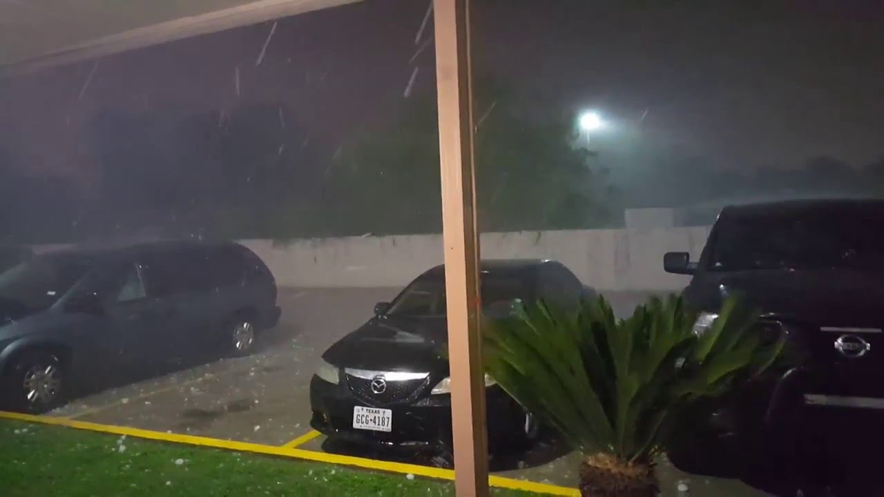 Severe Hail Storm In San Antonio 4 12 2016 Weather Hail