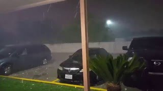 Severe Hail Storm in San Antonio 4/12/2016 . Weather. hail. storm