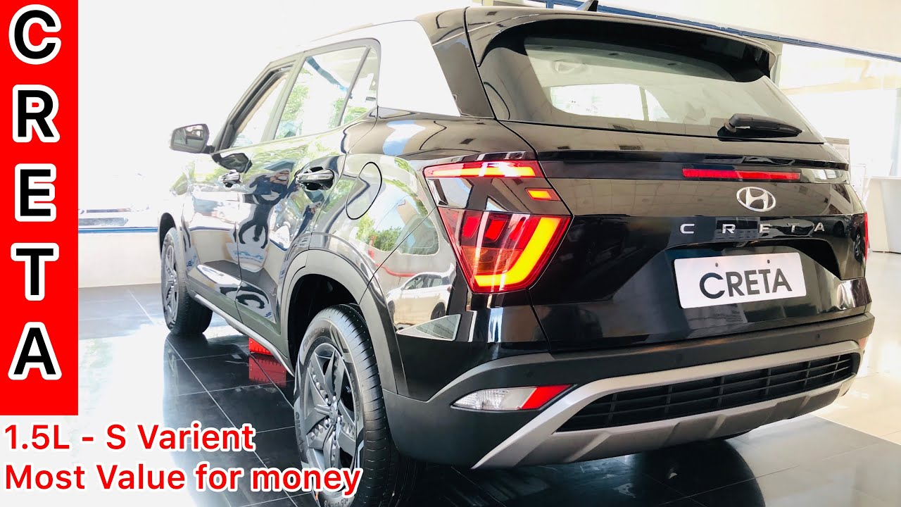 2021 Hyundai Creta S Model Black Colour Detailed Walkaround Features Interiors Exteriors Price Youtube