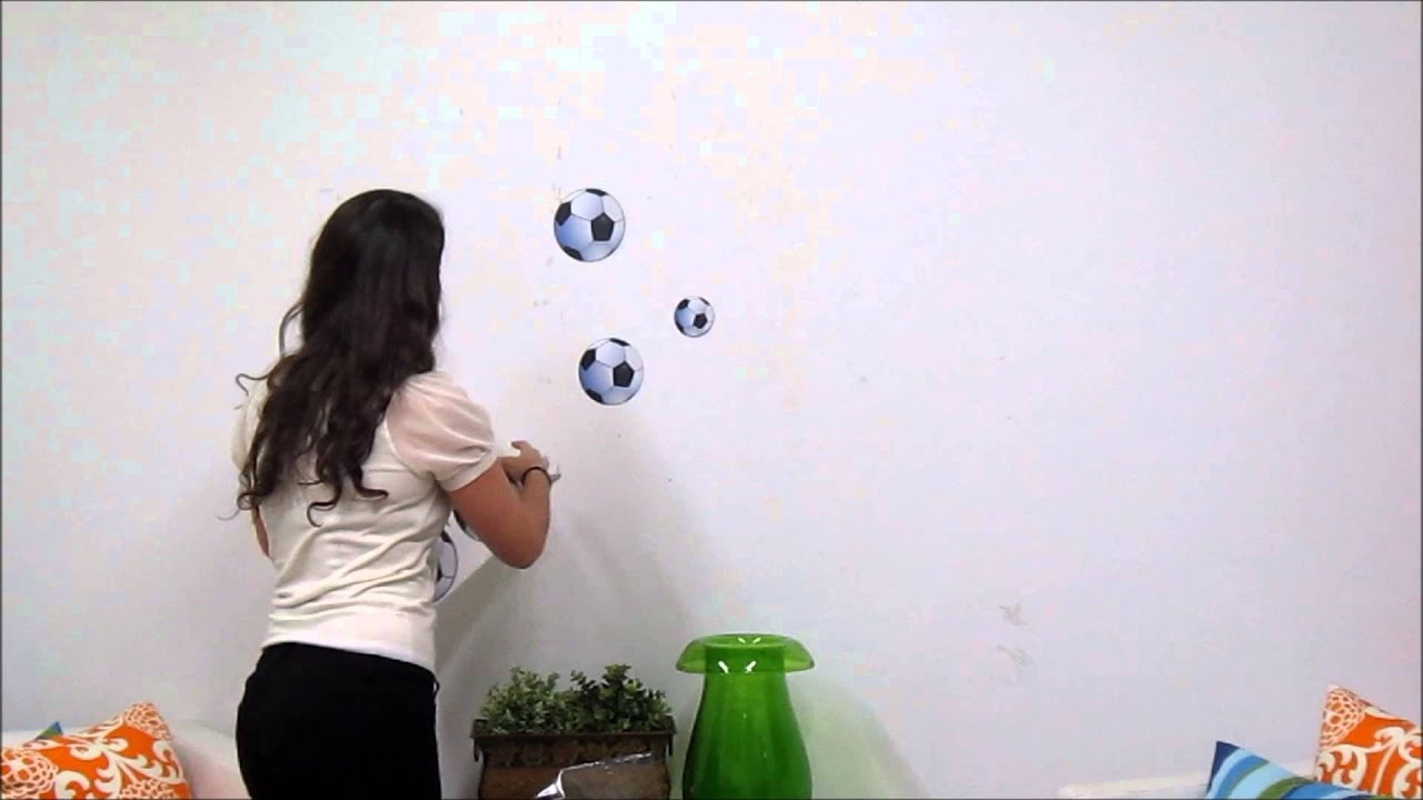 Soccer Wall Decals   YouTube