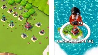 Boom Beach DEFEATING Hammerman HQ 35!