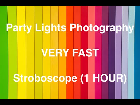 Party Lights Effects (VERY FAST) - STROBOSCOPE 1 HOUR
