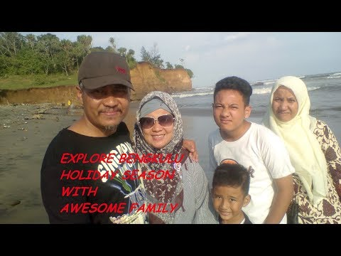 The most long beach off the world, explore Bengkulu Sumatra cold salt water with amazing family