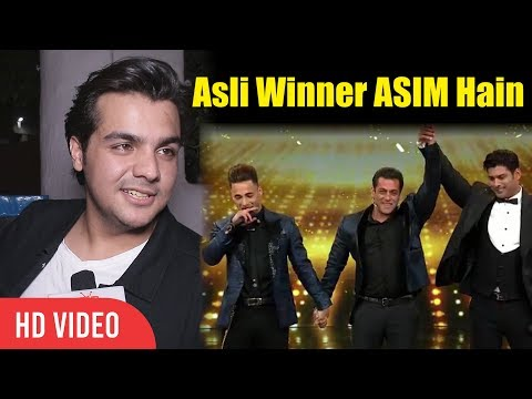 "Asli Winner ASIM Hain ""Ashish Chanchlani"" Reaction On Bigg Boss 13 Winner"