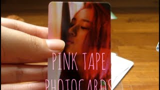 vuclip SNSD Love and Girls Fanmade Photocard Set and F(x) Pink Tape Photocards。◕‿◕。