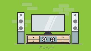 How to make Tv Room illustration using adobe illustrator 🔥